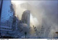 Stofwolken rond de tweede toren van het WTC: Bill Biggarts laatste foto