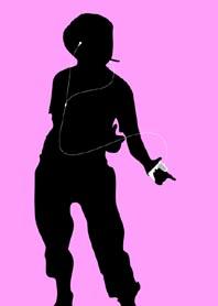 Lynndy E. als iPod mannequin